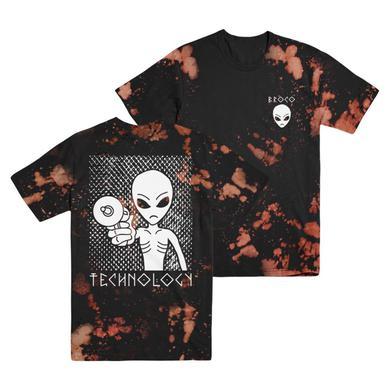DON BROCO Alien Bleached T-Shirt