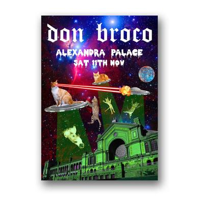DON BROCO Alexandra Palace Cats In Space Poster