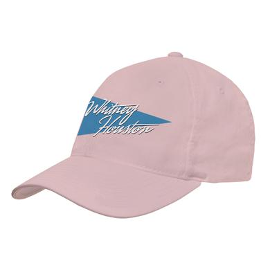 Whitney Houston Script Triangle Logo Pink Hat
