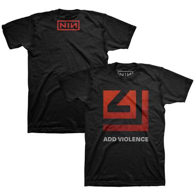 Nine Inch Nails ADD VIOLENCE SQUARE BLACK TEE