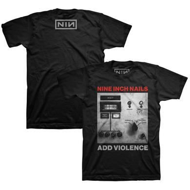 Nine Inch Nails ADD VIOLENCE ALBUM COVER BLACK TEE