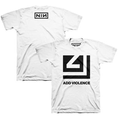 Nine Inch Nails ADD VIOLENCE CUTOUT WHITE TEE