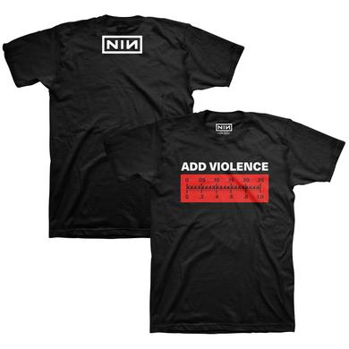Nine Inch Nails ADD VIOLENCE METER TEE