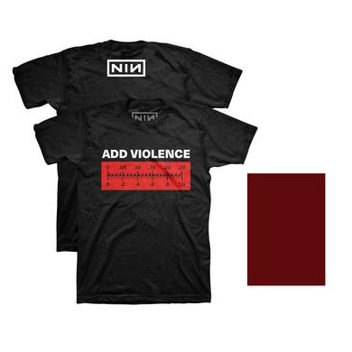 Nine Inch Nails ADD VIOLENCE DIGITAL EP + PHYSICAL COMPONENT + EXCLUSIVE ADD VIOLENCE METER TEE