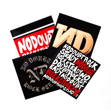 No Doubt Rock Steady 4-Sticker Pack