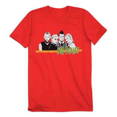 No Doubt Red Stripe Men's T-Shirt