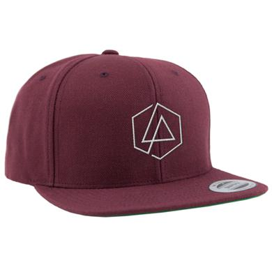 Linkin Park LP Hex Snapback Hat-Maroon