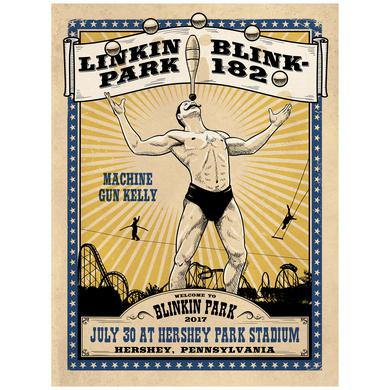 Linkin Park Blinkin Hershey Park Show Poster