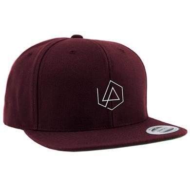 Linkin Park LP Hex Logo Maroon Snapback Hat