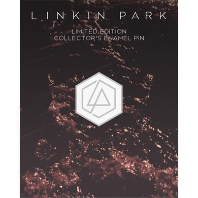 Linkin Park LP Hex Enamel Pin-White (Vinyl)