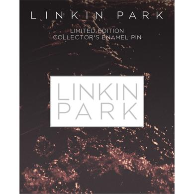 Linkin Park LP Rectangle Enamel Pin-White (Vinyl)