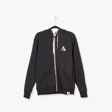 Above & Beyond A&B Sherpa Lined Zip Hoodie / Charcoal Heather