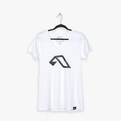 Above & Beyond Anjunabeats A V-Neck Tee / White (Womens)