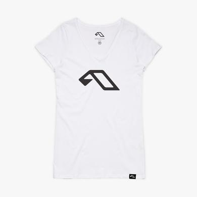 Anjunabeats A V-Neck Tee / White (Womens)