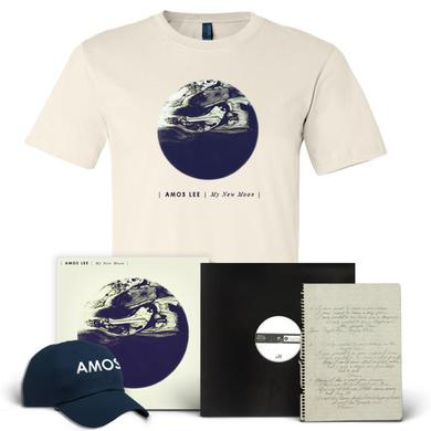 Amos Lee My New Moon Ultimate Bundle (Signed Test Pressing/Handwritten Lyric Sheet/Ltd. Edition LP/Shirt/Hat)
