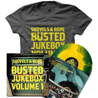 Shovels & Rope Busted Jukebox Starburst Vinyl (Limited Edition) & Shirt Bundle