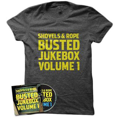 Shovels & Rope Busted Jukebox CD and Shirt Bundle