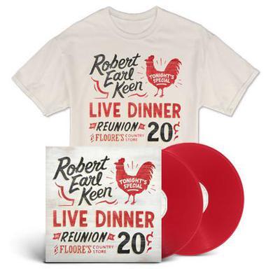 Robert Earl Keen Live Dinner Reunion (Vinyl & T-Shirt Bundle)