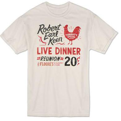 Robert Earl Keen Live Dinner Reunion T-Shirt