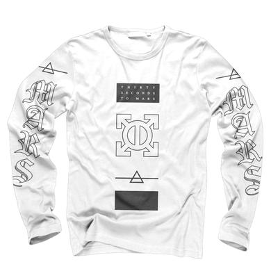 Thirty Seconds To Mars Epsilon White Long Sleeve Tee
