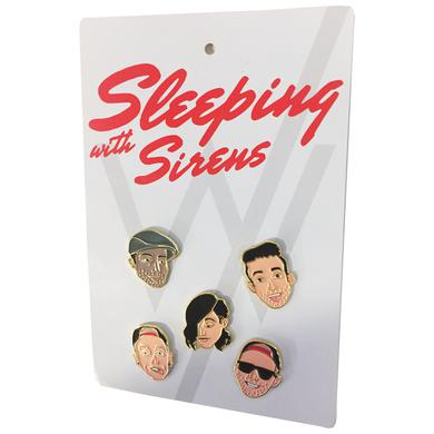 Sleeping With Sirens SWS Band Pin Set