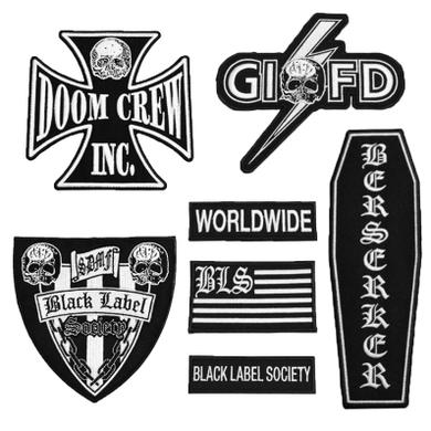 Black Label Society BLS Front Patch Set