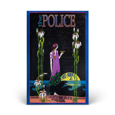 """The Police """"The Police - Commonwealth Stadium""""  Bob Masse Signed Poster"""