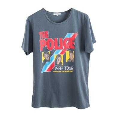 The Police Ghost in the Machine 1982 Tour Three Faces Blue/Red Stripe T-Shirt