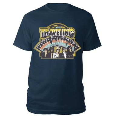 Traveling Wilburys LOGO BAND PHOTO NAVY TEE