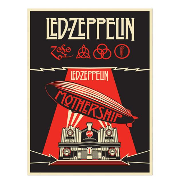 Led Zeppelin Mothership Numbered 24x36 Lithograph
