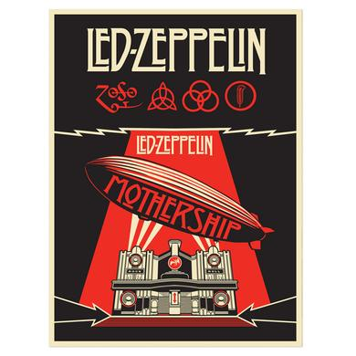 Led Zeppelin Mothership Numbered 18x24 Screen Print