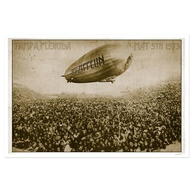 Led Zeppelin Tampa Stadium May 5th 1973 Numbered 24x36 Lithograph