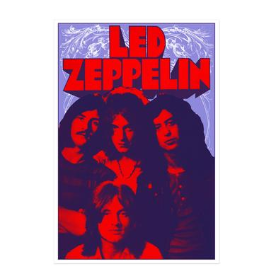 Led Zeppelin Band Promo Photo from 1969 Numbered 18x24 Screen Print