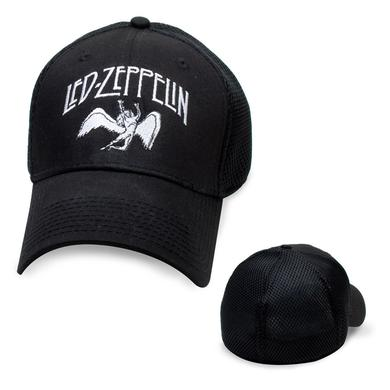 Led Zeppelin White Logo & Icarus Mesh-backed Trucker Hat (New Era)