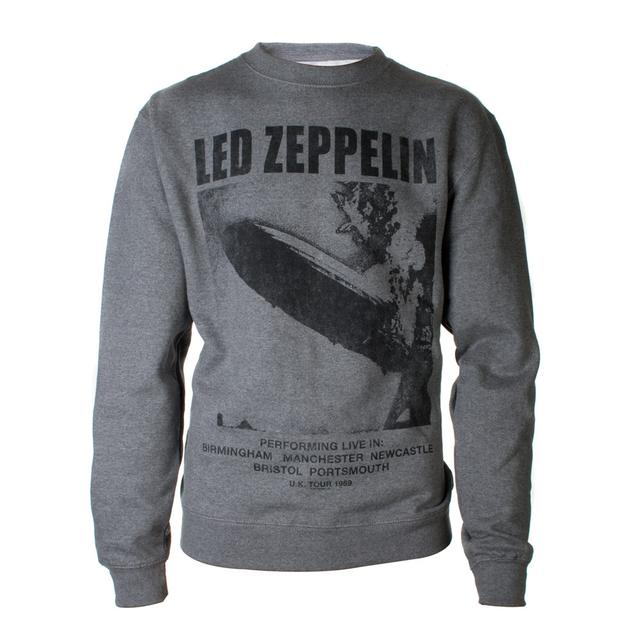 Led Zeppelin UK Tour 1969 LZ I Heather Grey Crewneck Sweatshirt