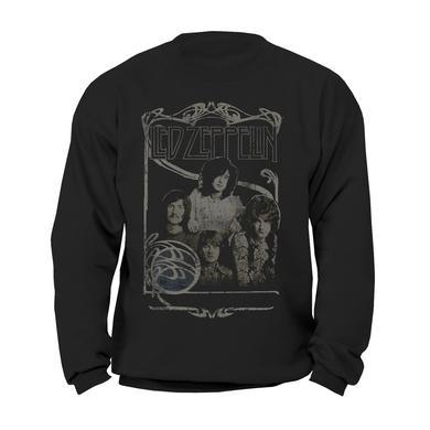 Led Zeppelin Band Promo Photo Black Crewneck Sweatshirt