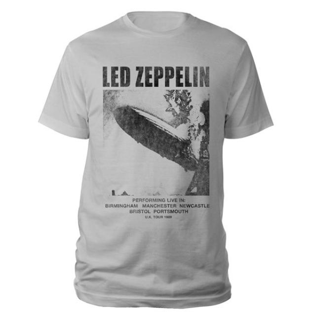 Led Zeppelin UK Tour 1969 LZ I Silver Grey T-Shirt
