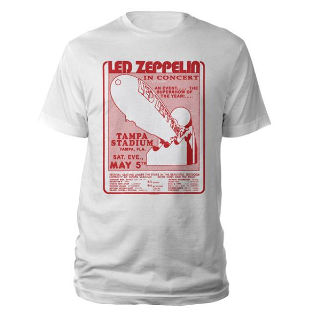 Led Zeppelin Tampa Stadium White T-Shirt