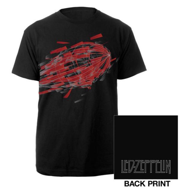 Led Zeppelin Blimp Airframe Black T-Shirt