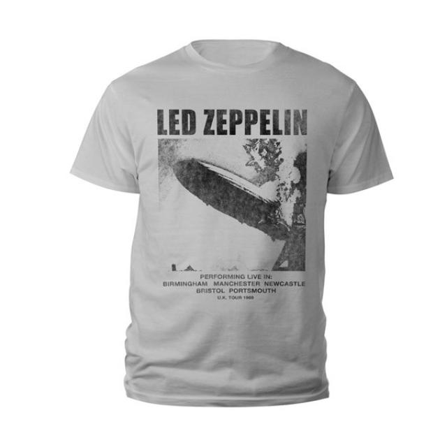 Led Zeppelin Youth UK Tour 1969 LZ I Silver Grey T-Shirt