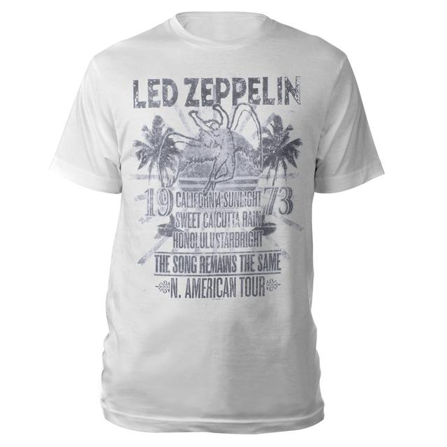 Led Zeppelin The Song Remains the Same Vintage White T-shirt