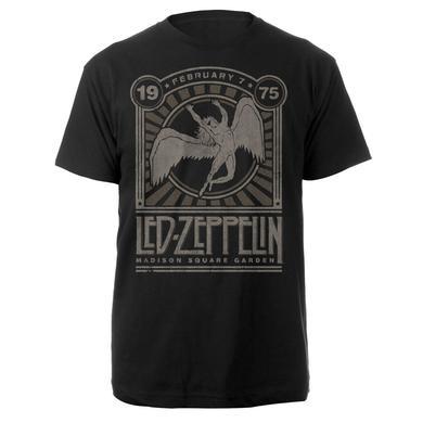 Led Zeppelin Madison Square Garden 1975 Event Black T-Shirt