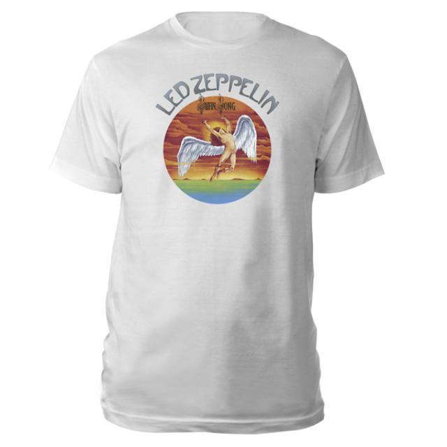Led Zeppelin Swan Song White T-Shirt