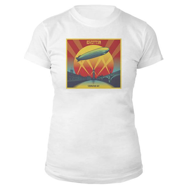 Led Zeppelin Celebration Day Women's White T-Shirt