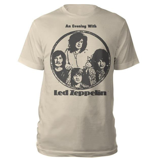 An Evening With Led Zeppelin Natural T-Shirt