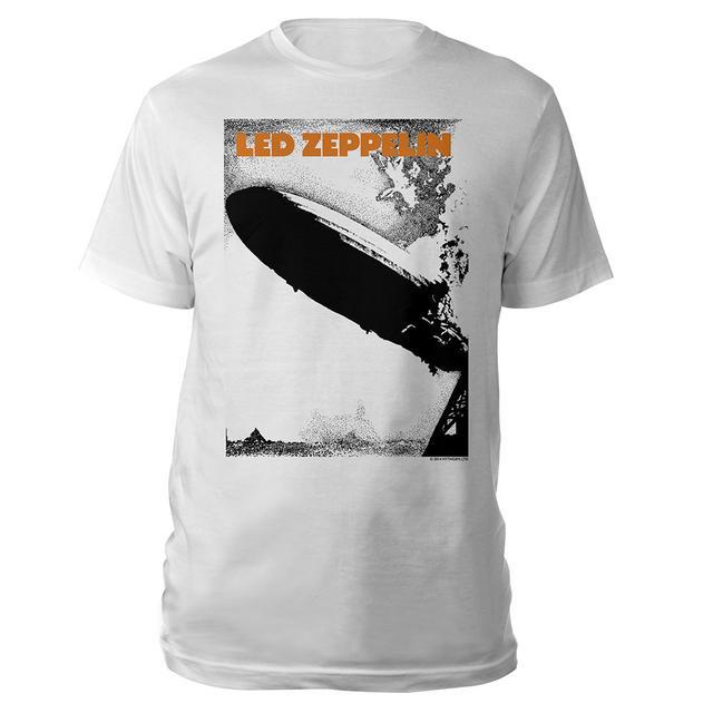 Led Zeppelin Debut Album White T-Shirt