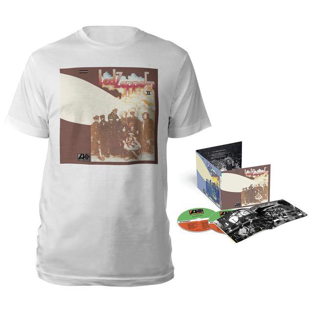 Led Zeppelin II Deluxe Edition CD + Album White T-Shirt