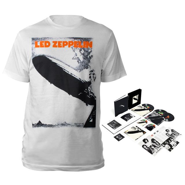 Led Zeppelin Super Deluxe Edition Box Set + Debut Album White T-Shirt
