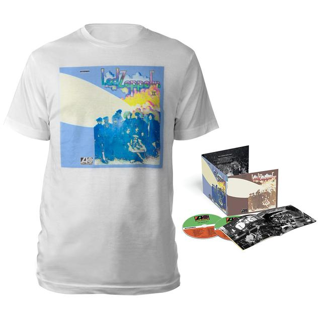 Led Zeppelin II Deluxe Edition CD + Companion Album White T-Shirt
