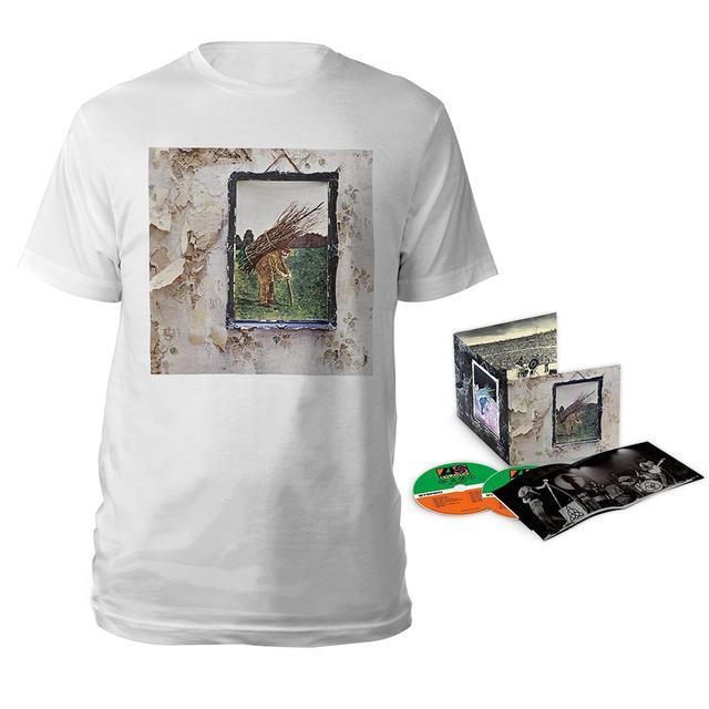 Led Zeppelin IV Deluxe Edition CD + Album White T-Shirt